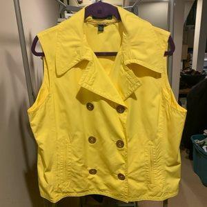 Lauren Ralph Lauren Yellow Vest, sz XL